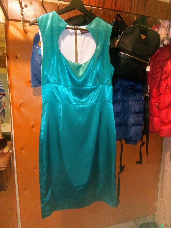 Платье малахит атлас
