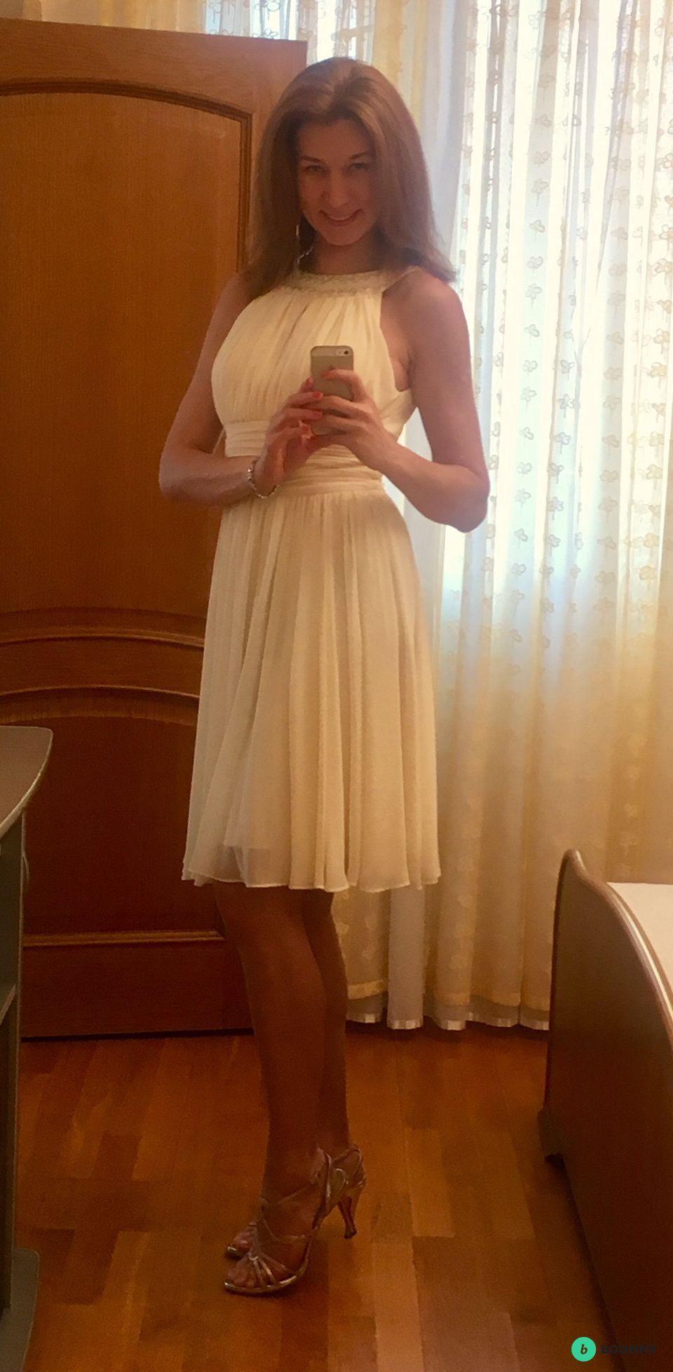 Нежное коктейльное платье