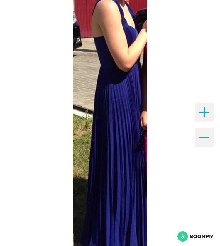 Синее платье maxi oasis