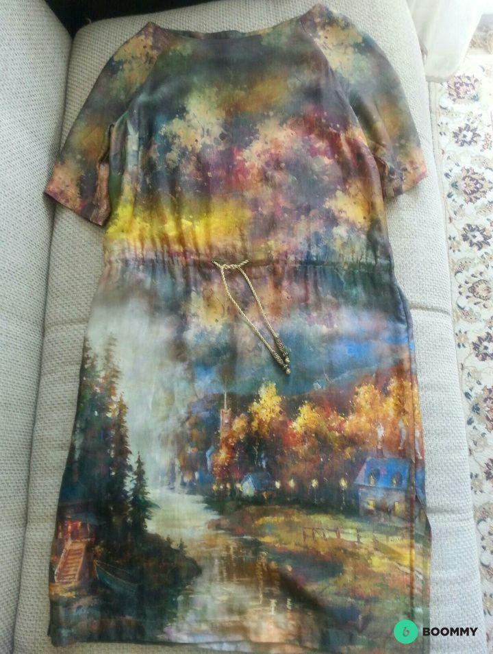 Новое шелковое платье Leonardo