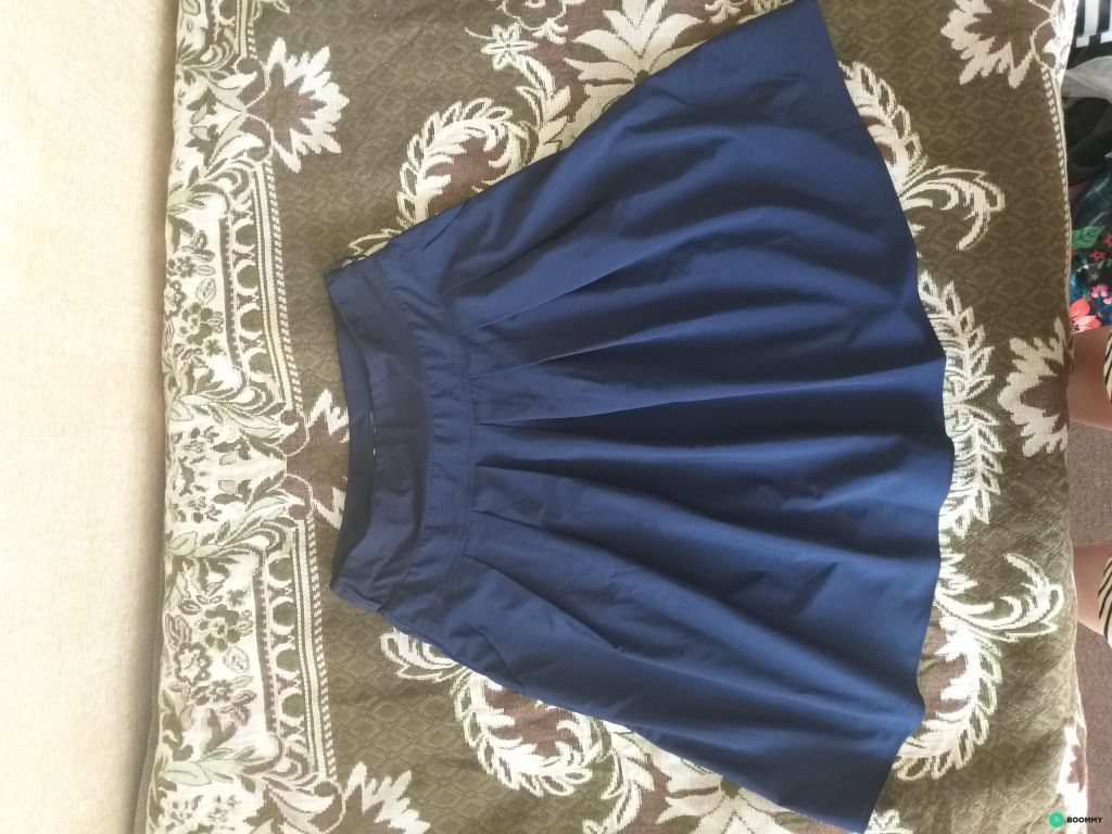 юбка А-силуэта со складочками