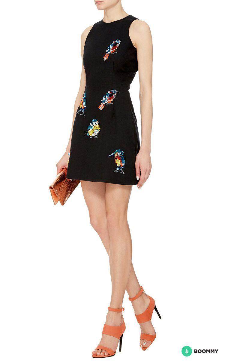 Дизайнерское платье MSGM с вышивкой (S)