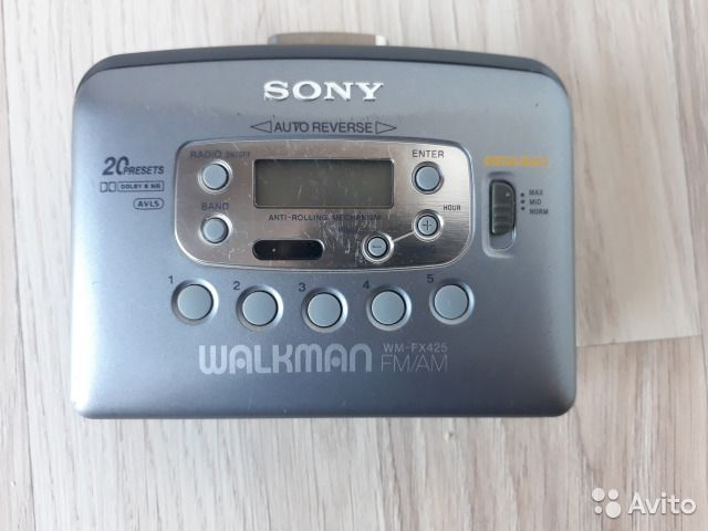 Sony walkman WM-FX425 кассетный плеер
