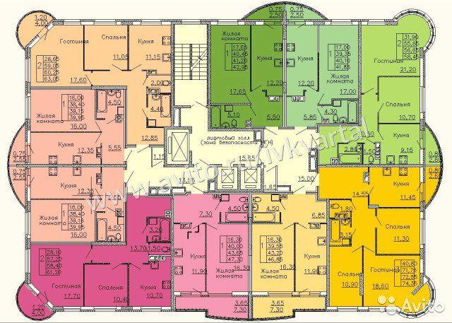1-к квартира, 41.2 м², 10/17 эт.