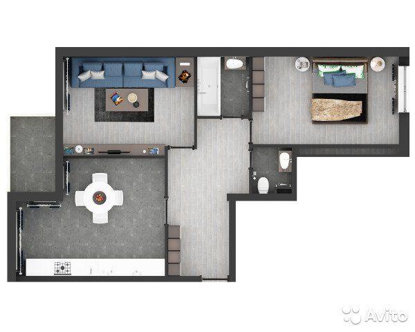 3-к квартира, 63 м², 3/4 эт.