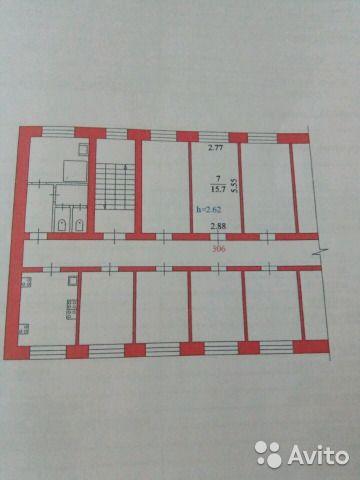 Комната 16 м² в 1-к, 3/4 эт.