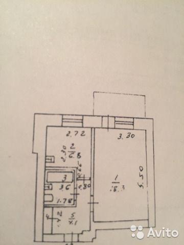 1-к квартира, 34 м², 3/5 эт.