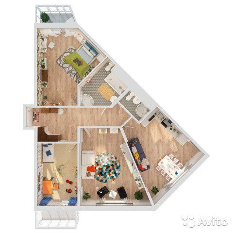 3-к квартира, 103.1 м², 5/8 эт.