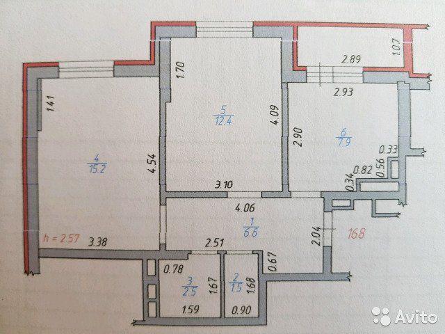 2-к квартира, 46 м², 12/18 эт.