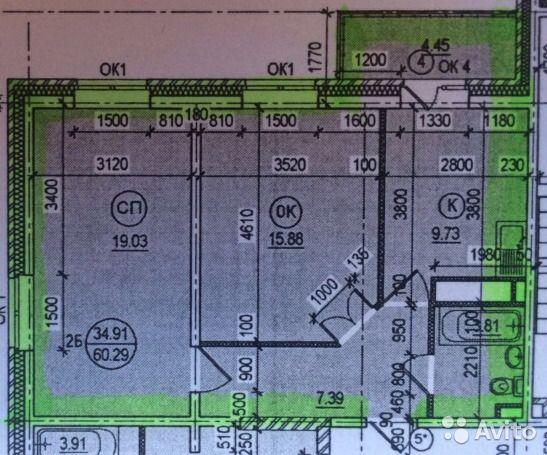 2-к квартира, 61 м², 13/17 эт.