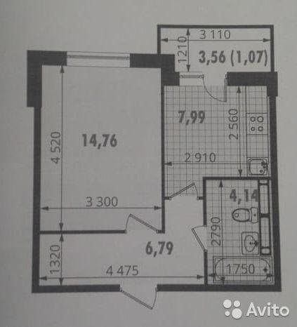 1-к квартира, 36.7 м², 7/12 эт.
