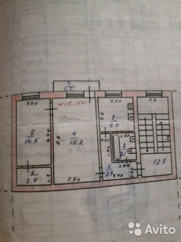 2-к квартира, 42 м², 3/4 эт.