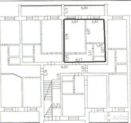 1-к квартира, 49 м², 1/3 эт.