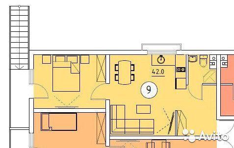 2-к квартира, 38.9 м², 2/3 эт.