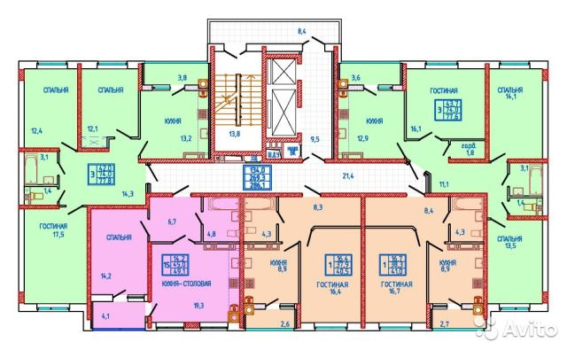1-к квартира, 49.1 м², 12/18 эт.