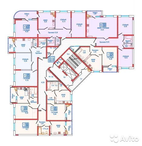 1-к квартира, 39.2 м², 17/18 эт.
