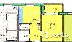 1-к квартира, 33.8 м², 3/9 эт.