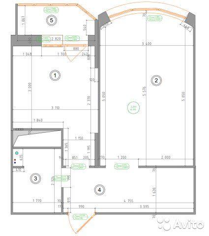 1-к квартира, 41 м², 18/20 эт.