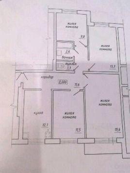 4-комнатная квартира (80.2 м²)
