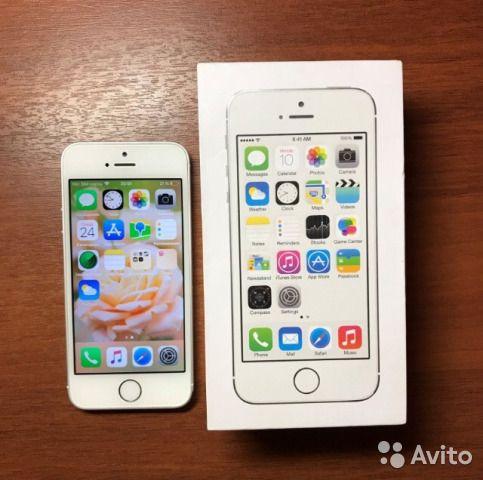 iPhone 5s 16gb silver новый + чехол зарядка