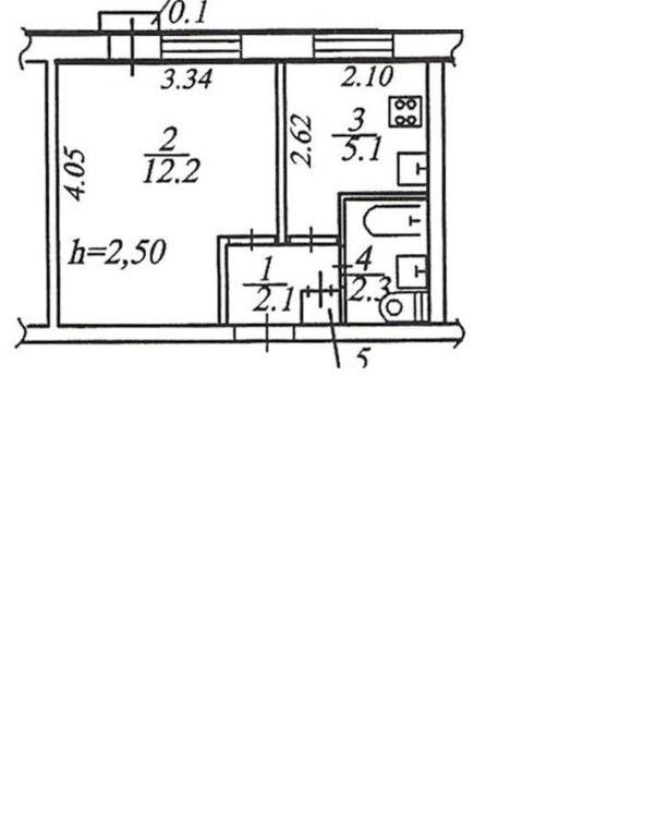 1-комнатная квартира (22 м²)